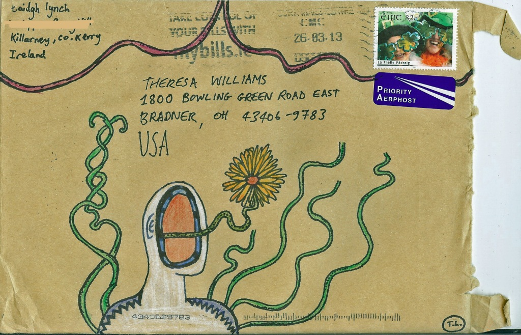 Decorated Envelope from Taidgh Lynch (Killarney, Co. Kerry, Ireland)