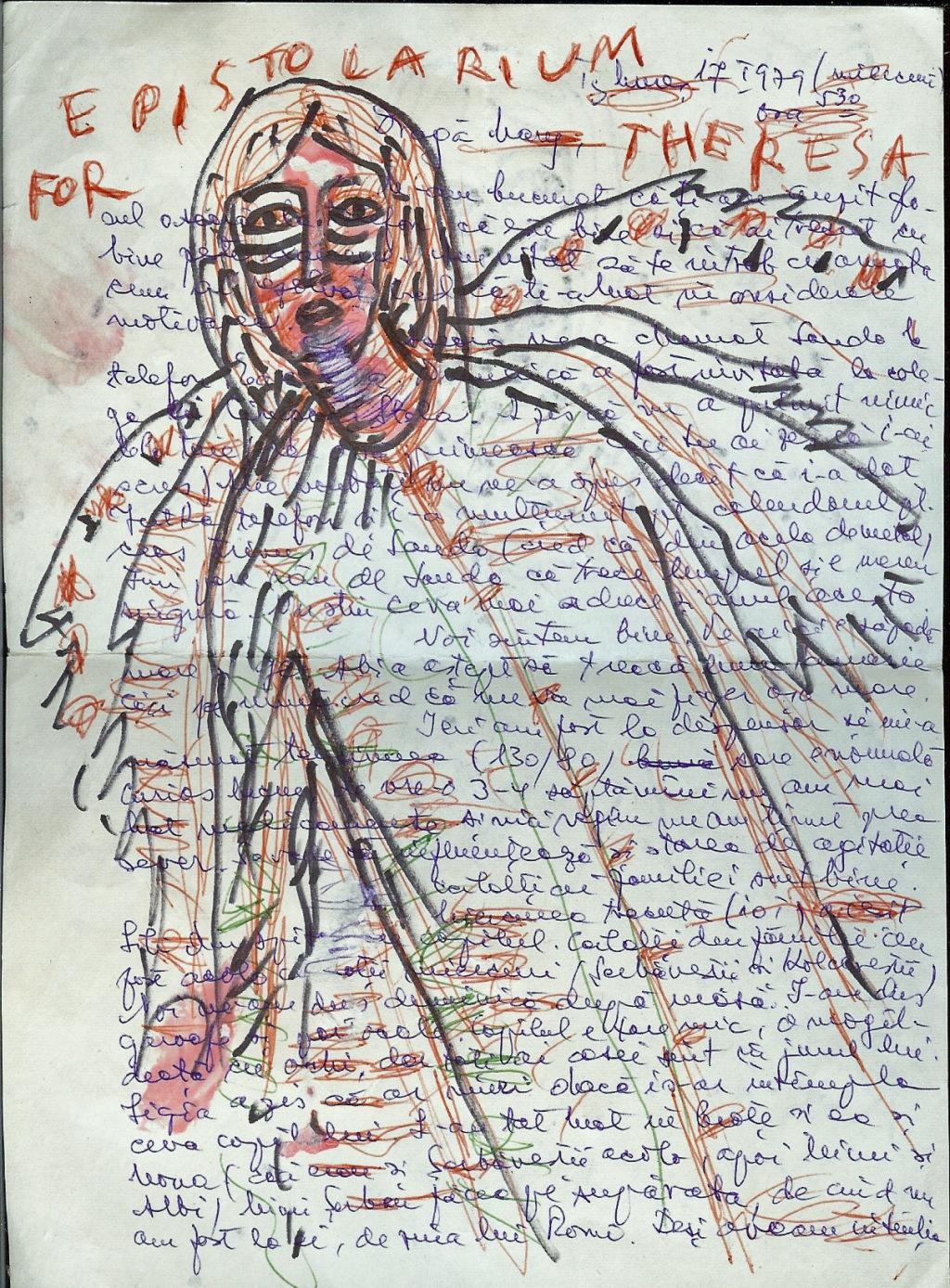 Letter art (back) from Mariana Serban (Romania)