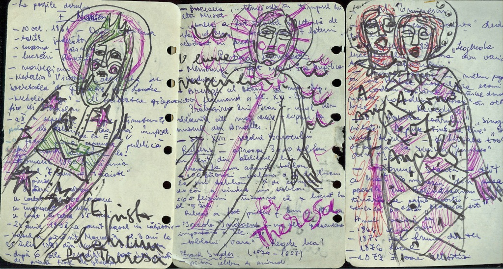 Small pages (front) from Mariana Serban (Romania)