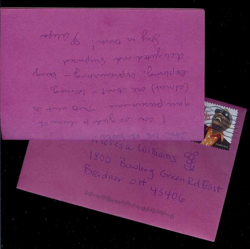 Letter from Alexa Mergan, Sacramento, CA